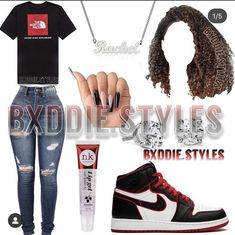 Bad Girl Outfits, Boujee Outfits, Baddie Outfits Casual, Cute Lazy Outfits, Swag Outfits For Girls, Cute Outfits For School, Teenage Girl Outfits, Cute Swag Outfits, Teen Fashion Outfits