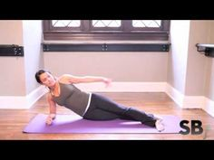 Free side plank work-out with Suzanne Bowen. Works your upper back, shoulders, arms, hips