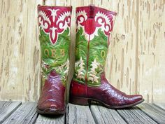 Carl McDowell, a bootmaker in Wichita, Kansas. They were made in the late 40's or early 50's