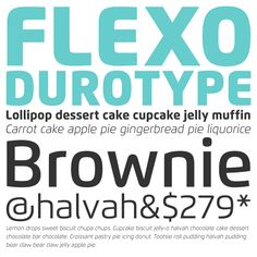 Flexo type family from Durotype. #fonts #typography