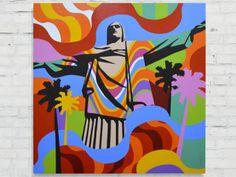 Rio de Janeiro   Pop Art   Lobo #lobopopart #artistabrasileiro #paintings #fineart #popart