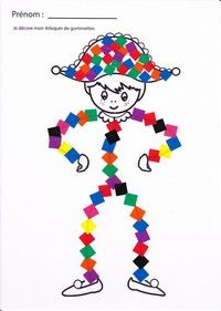English Activities, Educational Activities, Diy And Crafts, Crafts For Kids, Arts And Crafts, Theme Carnaval, Send In The Clowns, Shape Art, Art N Craft