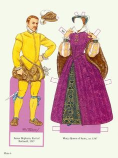 Mary Queen of Scots* 1500 free paper dolls at international artist Arielle Gabriels The International Paper Doll Society and also free Asian paper dolls at The China Adventures of Arielle Gabriel Hong Kong writings *