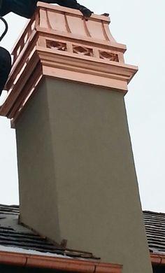 Copper Haute Provence chimney cap on copper Chancellor 'super chase pan'.