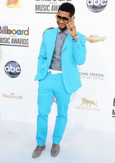 Usher working this season's bright color trend