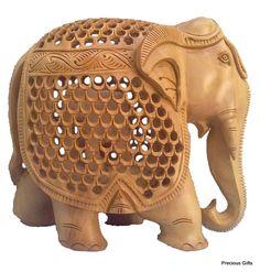 Wooden Jali elephant mother