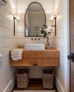 Awesome Farmhouse Bathroom Vanity Remodel Ideas – Best Home Decorating Ideas - Page 2 Interior Design Minimalist, Modern Design, Modern Contemporary, Design Interior, Diy Interior, Interior Modern, Midcentury Modern, Modern Farmhouse Bathroom, Farmhouse Design
