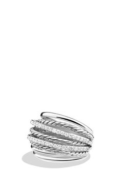 David+Yurman+'Crossover'+Dome+Ring+with+Diamonds+available+at+#Nordstrom