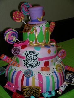 Willy Wonka Cake-if I have time I will totally do this for the cast party