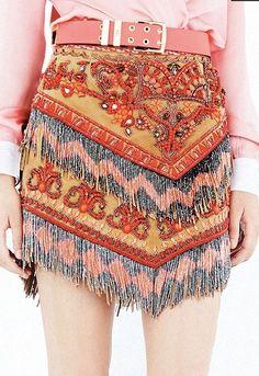 EMILIO PUCCI Bohemian Embellished Skirt