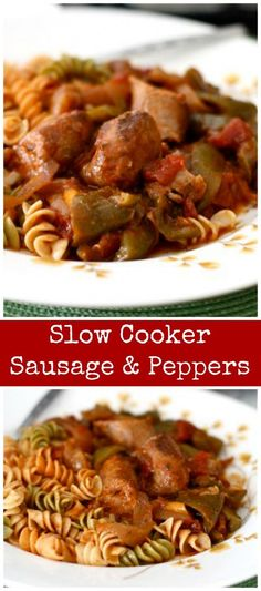 Use that slow cooker to make this comforting and classic Sausage and Peppers dinner. I love to use chicken or turkey sausage to keep it light!