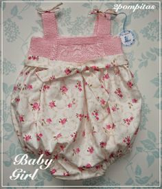 Baby girl bubble romper. From 3/6 months. 100% cotton. 2pompitas@gmail.com