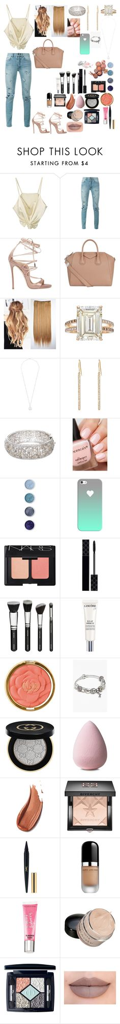 """""""Weekend♥♦♥"""" by fashion-dora15 ❤ liked on Polyvore featuring Yves Saint Laurent, Dsquared2, Givenchy, Betteridge, Rosa de la Cruz, Jennifer Meyer Jewelry, Terre Mère, Casetify, NARS Cosmetics and Gucci"""