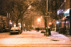 A snowy New York as captured by Sony Artisan Vivienne Gucwa