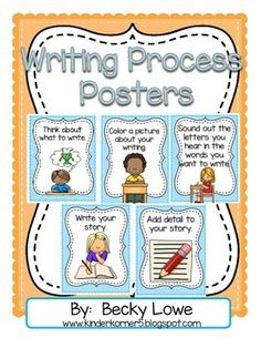 FREE Writing Process Posters for your classroom.  Perfect for your writing center.  Follow my TPT store for more products and freebies.