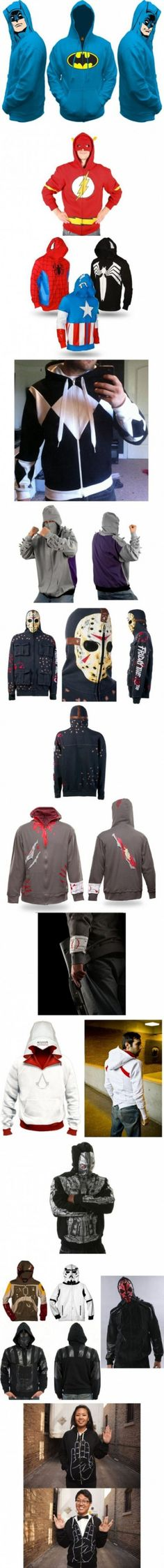AWESOME hoodies and jackets - I want the assassin's creed one