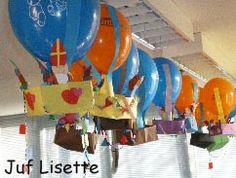 #knutselen met kinderen tijdens #sinterklaas #DIY Sinterklaas luchtballon