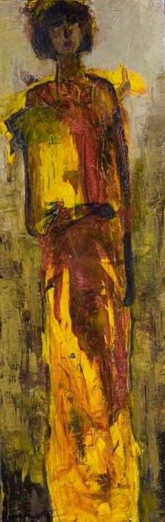 """Flame of...,"" original oil painting, 30x10, Available at Rich Timmons Studio & Gallery, 3795gallery.com"