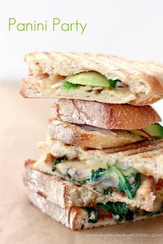 Panini Bar! Easy and fun dinner or entertaining idea. Try these yummy ingredients from Marina @ YummyMummyKitchen.com
