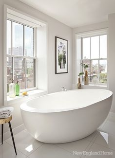 The homeowners can luxuriate in the master bath, high above the urban bustle.