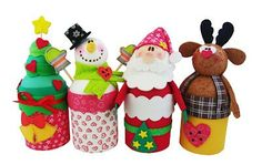 Manualidades Navideñas Con Latas Muy Simples Christmas Favors, Christmas Love, Christmas Crafts, Christmas Decorations, Xmas, Christmas Ornaments, Spool Crafts, Toilet Paper Roll Crafts, Santa And Reindeer