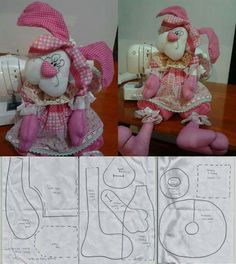 1 million+ Stunning Free Images to Use Anywhere Felt Crafts, Easter Crafts, Diy And Crafts, Sewing Toys, Sewing Crafts, Sewing Projects, Doll Clothes Patterns, Doll Patterns, Homemade Dolls