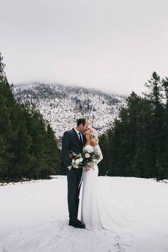 West Glacier Winter Elopement Inspiration via Rocky Mountain Bride Winter Wonderland Wedding, Elope Wedding, Wedding Pics, Dream Wedding, Wedding Dresses, Wedding Ideas, Wedding Trends, Wedding Decor, Winter Weddings