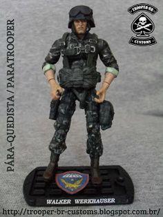 Gi joe Custom Action Figures: Pára-quedista do Exército Brasileiro I Brazilian…