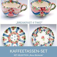 b42_kaffeetassen_rosabluverde_sel Pink, Natural Selection, Coffee Cups, Simple Lines, Tablewares