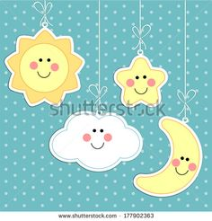 Image result for sun moon stars on strings