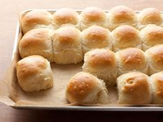 Parker House Rolls from FoodNetwork.com.  I have made these rolls many times and they always turn out great.  Will make them the day before and put in the fridge after shaping.