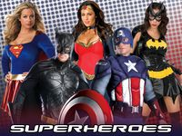 Superhero Costumes for kids and adults! Disguise as Avengers, classic Spiderman, Batman and Catwoman, and the Hulk.