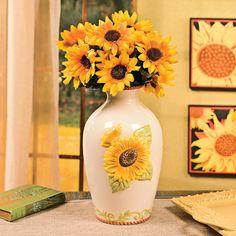 Sunflower Vase - OrientalTrading.com
