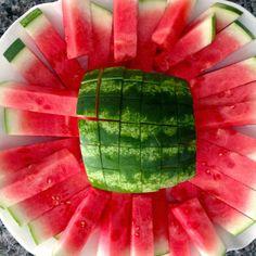 How To Cut Watermelon Sticks | Cookin' And Kickin'