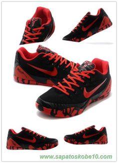 tenis barato de marca Nike Kobe IX EM XDR Preto / Vermelho 653972-702