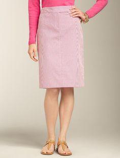 Talbots - Seersucker Pencil Skirt | Skirts | Misses