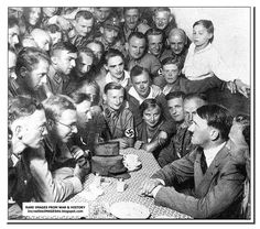 Hitler with young Nazis. 1933