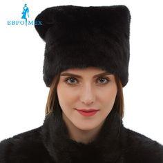101.11$  Watch now - http://alinpc.worldwells.pw/go.php?t=32763074503 -  New arrival Cute mink fur hats real mink fur hat for winter women Fashion russian fur hat Warm winter Black fur hats