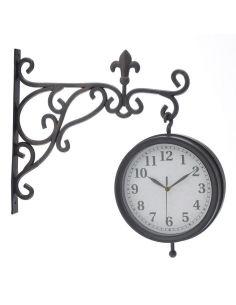 Ceas statie, cu doua cadrane Clock, Wall, Model, Home Decor, Watch, Decoration Home, Room Decor, Scale Model