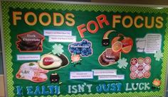Mar East Campus Winner: Sullivan RA Alyssa Suhm's bulletin board Foods for Focus
