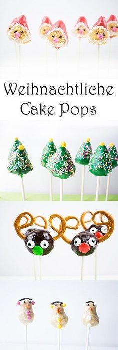 Cake Pops zu Weihnachten selber machen: Weihnachtsmann, Tannenbaum, Rentier, Schneemann - Weihnachtliche Rezepte backen - kochen für Kinder zu Weihnachten - Weihnachten mit Kindern Ideen - Ideen für Weihnachtsmarkt Healthy Banana Cakes, Banana Baby Food, Easter Cake Pops, Easter Cupcakes, Cake Recipes For Kids, Baby Food Recipes, Cake Pops Frosting, Christmas Cake Pops, Christmas Ideas