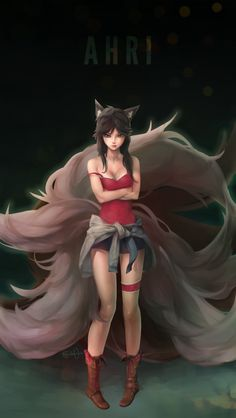 "league-of-legends-sexy-girls: "" Ahri : New Age by DPremonition """