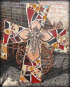 mosaic crosses designs   large custom cross mosaic hand crafted mosaic custom cross texture ...