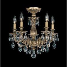 Schonbek Milano 5 Light Crystal Chandelier Finish: Florentine Bronze, Crystal Grade: Swarovski Spectrum