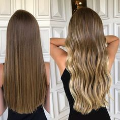 Image may contain: one or more people Balayage Hair Blonde, Hair Styler, Hair Skin Nails, Haircut And Color, Hair Inspo, Healthy Hair, Glamour, Hair Makeup, Hair Cuts