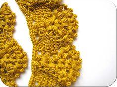 Orilla de crochet con sus instrucciones.