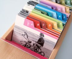 Address Card Box: can be converted into a words of encouragement box at wedding Paper Organization, Home Organisation, Buch Design, Paper Hearts, Smash Book, Words Of Encouragement, Diy Paper, Organize Your Life, Mini Albums