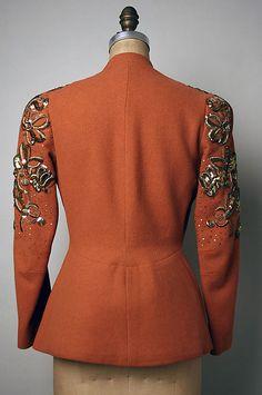 Evening jacket Designer: Elsa Schiaparelli (Italian, Date: ca. 1930s Fashion, Vintage Fashion, Retro Outfits, Vintage Outfits, Jacket Images, Elsa Schiaparelli, 20th Century Fashion, Italian Fashion Designers, Vintage Couture