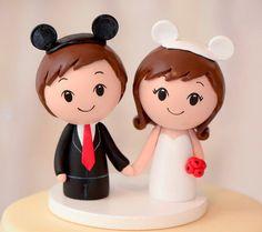 Disney inspired Cake Topper   Kokeshi Wedding by CakeToppersStudio, $89.00 @Danielle Marie