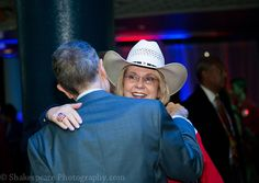 Dianne Edmondson, Executive Director of RNC for Life and John Schlafly hugging.